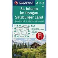 Kompass Wandelkaart 80 St.Johann Im Pongau - Salzburger Land