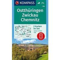 Kompass Wandelkaarten Set 804 Ostthüringen
