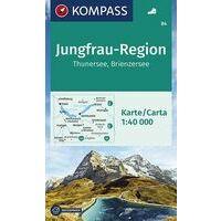 Kompass Wandelkaart 84 Jungfrau-Region