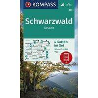Kompass Wandelkaart 888 Schwarzwald Gesamt