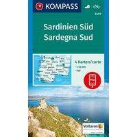 Kompass Wandelkaart Set 4-delig 2499 Sardinië Zuid