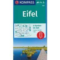 Kompass Wandelkaarten 833 Eifel Vier Kaarten