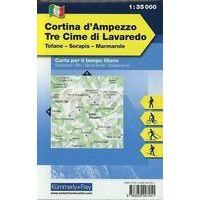 Kummerly En Frey Outdoorkarte 06 Cortina D'Ampezzo Tre Cime 1:35.000