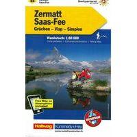 Kummerly En Frey Wandelkaart 24 Zermatt - Saas-Fee