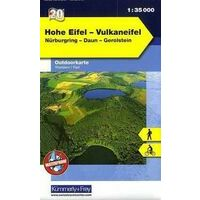Kummerly En Frey Outdoorkarte 20 Hohe Eifel Vulkaneifel 1:35.000