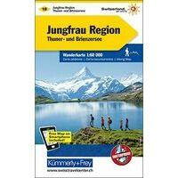 Kummerly En Frey Wandelkaart 18 Jungfrau Regio