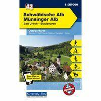 Kummerly & Frey Outdoorkaart 42 Schwäbische Alb - Münsinger Alb