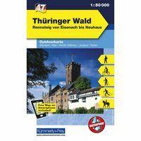 Kummerly En Frey Outdoorkaart 47 Thüringer Wald