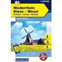Kummerly & Frey Outdoorkaart 61 Niederrhein - Kleve - Wesel