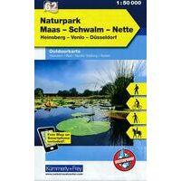 Kummerly & Frey Outdoorkaart 62 Natuurpark Maas - Swalm - Nette