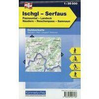 Kummerly En Frey Outdoorkarte 04 Ischgl - Serfaus