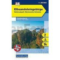 Kummerly En Frey Outdoorkarte 18 Elbsandsteingebirge 1:35.000