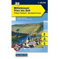 Kummerly En Frey Outdoorkarte 22 Mittelmosel 1:35.000