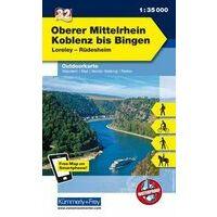 Kummerly En Frey Outdoorkarte 32 Oberer Mittelrhein 1:35.000