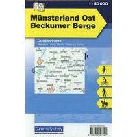 Kummerly En Frey Outdoorkarte 59 Beckumer Berge Munsterland Oost 1:50.000