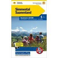 Kummerly En Frey Wandelkaart 17 Simmental - Saanenland