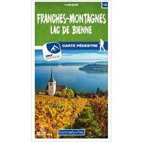 Kummerly En Frey Wandelkaart 10 Franches-Montagnes - Lac De Bienne