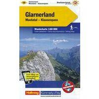 Kummerly & Frey Wandelkaart 12 Glarnerland - Walensee