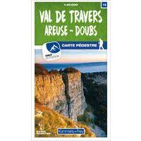 Kummerly En Frey Wandelkaart 16 Val De Travers - Areuse-Doubs