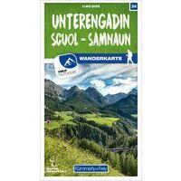 Kummerly & Frey Wandelkaart 24 Unterengadin - Scuol - Samnaun