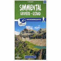 Kummerly & Frey Wandelkaart 29 Simmental Gruyere Gstaad