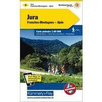 Kummerly En Frey Wandelkaart 3 Jura