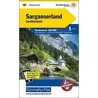 Kummerly En Frey Wandelkaart 30 Sarganserland - Liechtenstein