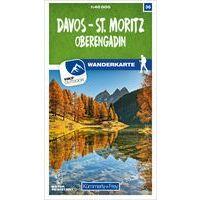 Kummerly En Frey Wandelkaart 36 Davos - St. Mortiz - Oberengadin