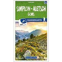 Kummerly & Frey Wandelkaart 42 Simplon - Aletsch - Goms