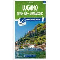 Kummerly En Frey Wandelkaart 50 Lugano - Sottoceneri - Gambarogno