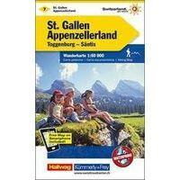 Kummerly & Frey Wandelkaart 7 St. Gallen - Appenzellerland