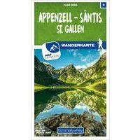 Kummerly & Frey Wandelkaart 9 Appenzell - Säntis - St. Gallen