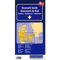 Wegenkaart Denemarken Zuid