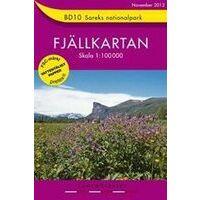 Lantmäteriet Fjallkarta Wandelkaart BD10 Sarek Nationaal Park
