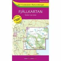 Lantmäteriet Fjallkarta Wandelkaart Z57 Funasdalen Fjallnas 1:50.000