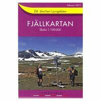 Lantmäteriet Fjallkarta Wandelkaart Z6 Storlien Ljungdalen 1:100.000