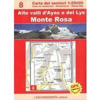 L'Escursionista Wandelkaart 8 Monte Rosa Val D'Ayas