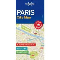 Lonely Planet Paris City Map Stadsplattegrond