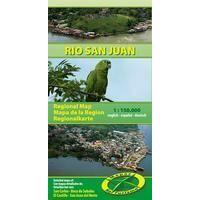Mapas Turismo Rio San Juan Nicaragua Costa Rica Kaart 1:150.000