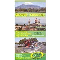 Mapas Turismo Wegenkaart Masaya Granada (Nicaragua)