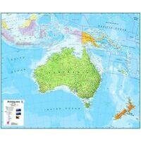 Maps International Wandkaart Australasia