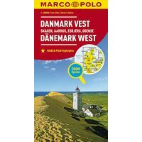 Marco Polo Wegenkaart Denemarken West