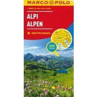 Marco Polo Wegenkaart Alpen