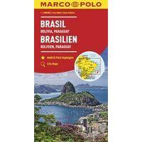 Marco Polo Wegenkaart Brazilië, Bolivia, Paraguay