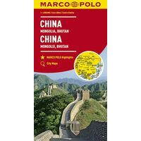 Marco Polo Wegenkaart China - Korea - Bhutan