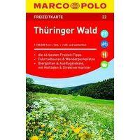 Marco Polo Wegenkaart FZK22 Thüringer Wald