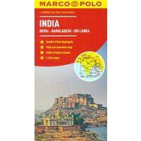 Marco Polo Wegenkaart India, Nepal, Bhutan, Sri Lanka