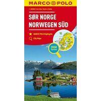 Marco Polo Wegenkaart Noorwegen Zuid