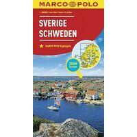 Marco Polo Wegenkaart Zweden