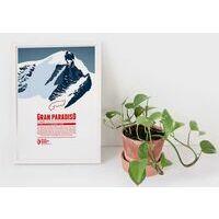 Marmota Maps Alpine Mountain Print Gran Paradiso